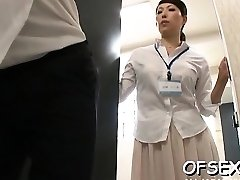 Slutty scene of real hard core screwing in the workplace