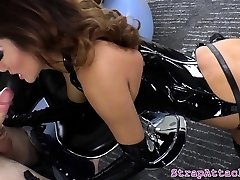 Asian prodomme disciplines sub with belt cock