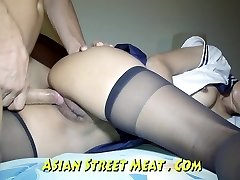 Bum Screwed haning On Asian Balcony