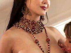 Asian harem lesbian group sex
