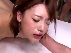 Hot japanese mass ejaculation scene