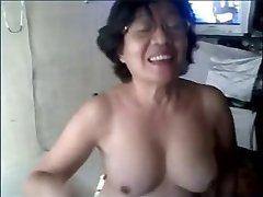 Granny asian on web cam