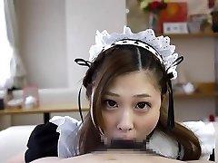 Asian Maid Suck & CIM pt. 2