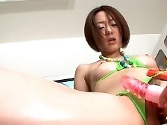 Hairy Asian Babe Extraordinary Insertion Fisting