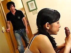 Emiko Koike in Emiko Koike is humping her step-son-in-law and his best buddy - AviDolz