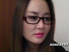 KOREA1818.COM - UPTIGHT Korean Dame in glasses