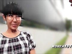 Gross Korean Cougar with Glasses in Japan