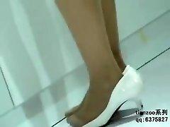 Candid Asian Nylon Stockings Feet & Legs Shoeplay Hostesses