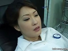 Cosplay Porn: Asians Nurses Cosplay Asian MILF Nurse Romped Doctors Office part 1