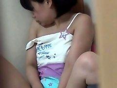Asian teenage fingers box