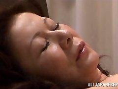 Chizuru Iwasaki hot mature Asian woman is plowed hard