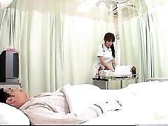 Nasty JPN nurse doing body exam to this part1