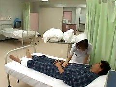 Amazing Japanese model Nozomi Osawa, Luna Kanzaki, Hinata Komine in Insatiable Nurse, Tights JAV video