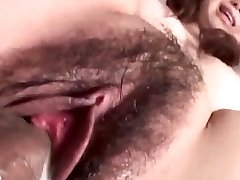 Jun Mise gets a big dick to enhance her wet pubic hair