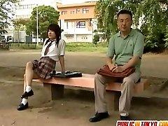 Asian teen is fucked on toilet