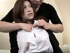 Marvelous Japanese babe gets a taste of a hard cock in her cock-squeezing we
