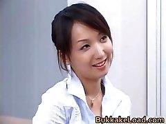 Jaw-dropping real asian Shiho getting jizz partThree