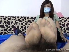 chinese double footjob
