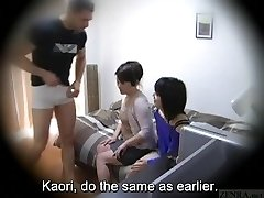 Subtitled Chinese homestay gone wrong CFNM blow-job