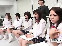 Subtitled CFNM Japanese students bare art class