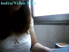 Asian chick lactating on webcam