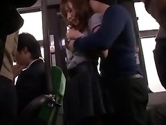 Hottest Asian model Nana Konishi in Astounding Gangbang, Stockings JAV clip