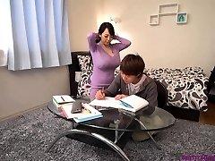 Busty asian teacher monstrous boobs