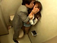Japanese Woman Boned in the Bathroom