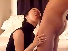 Asian wifey deep throat and fuck part 1