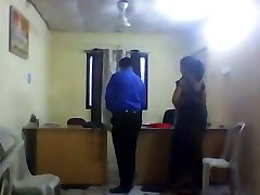 Office girl with hidden camera