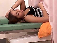 Beautiful japanese gynecology exam