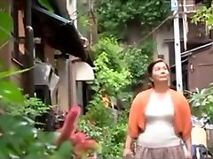 Sexy Japanese young damsel enjoys with old