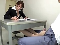 japanese lawyer give tights footjob to a prisoner