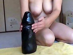 Elmer wife vs big black dildo rail