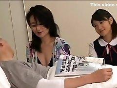 School girl japan in medical center