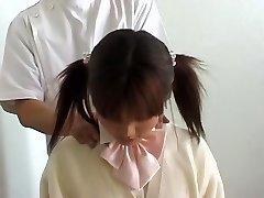 Perfect Asian teenie enjoys a hot voyeur erotic massage