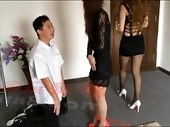 Chinese ballbusting girls