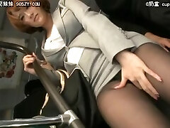 Japanese love the cock in train