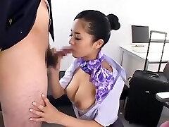 Kinky Asian model Sora Aoi in Fabulous Sports, Blowjob JAV clip