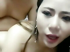 Chinese homemade Live chubby doll fuck at home natrual tits