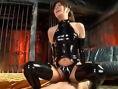 melhor modelo japonês nana ninomiya tesão em látex, fetiche jav clip