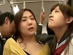 japonês mãe e namorada abusada ônibus - hot porn