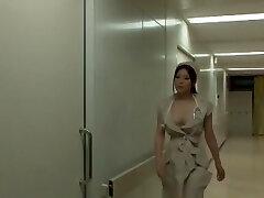 Incrível Japonês garota Yuna Shiina no Incrível, uma Enfermeira peituda JAV cena
