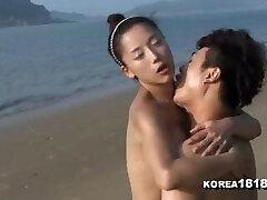 sexo coreano na praia