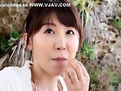 exótico japonês prostituta meisa chibana no fabuloso exterior, de biquíni jav filme