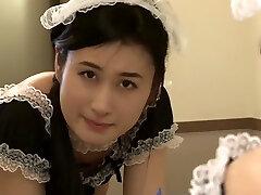 mais quente japonês garota incrível de empregada, hd jav vídeo