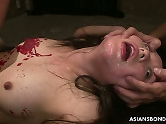 Asian hooker Anna Sakura gets her pussy punished by several guys