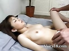 Asian guy licking super hairy pussy
