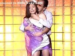 Insatiable Japanese chick Yuna Shiina in Hottest Creampie, Hardcore JAV clip