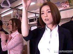 Mischievous Asian model gets hard manstick in public